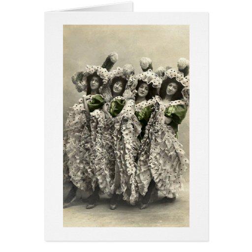 Foursome del baile tarjeta de felicitación