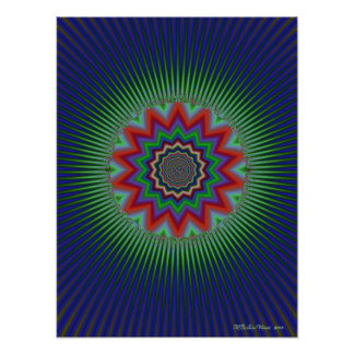 Fourteen Pointed Star Posters
