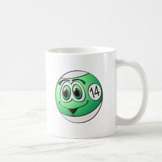 Fourteen Pool Ball Cartoon Coffee Mug