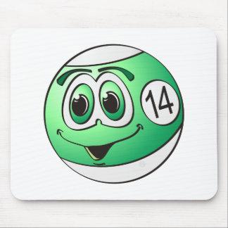 Fourteen Pool Ball Cartoon Mouse Pad