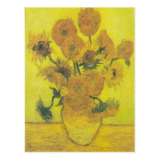 Fourteen Sunflowers in a Vase Post Cards