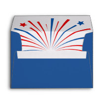 Fourth 4th of July Independence Day party envelope