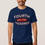 Fourth Amendment Est 1791 T-shirts