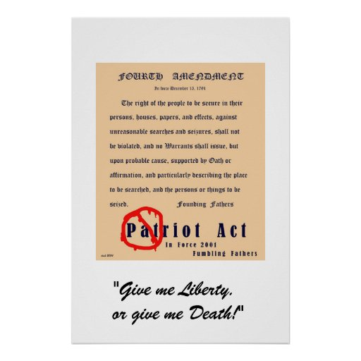 the 4th amendment right and patriot Bill of rights institute security, liberty, and the usa patriot act project the text of the preamble of the us constitution and the fourth amendment side.