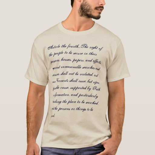 Fourth Amendment T-shirt
