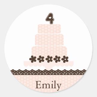 Fourth Birthday Cupcake Topper/Sticker