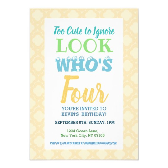 Fourth Birthday Invitation Wording