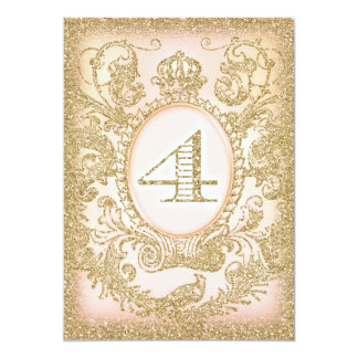Fourth Birthday Once Upon a Time Princess 5x7 Paper Invitation Card