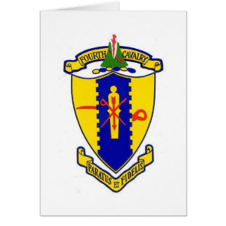 Fourth Cavalry crest Stationery Note Card