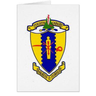 Fourth Cavalry crest Card