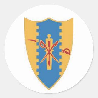 Fourth Cavalry Crest Classic Round Sticker