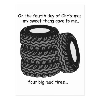Fourth Day Redneck Christmas Postcard