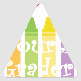 Fourth grade teacher2 triangle sticker