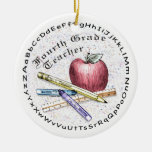 Fourth Grade Teacher Christmas Tree Ornaments