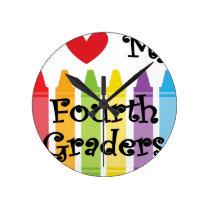 Fourth grade teacher round clock