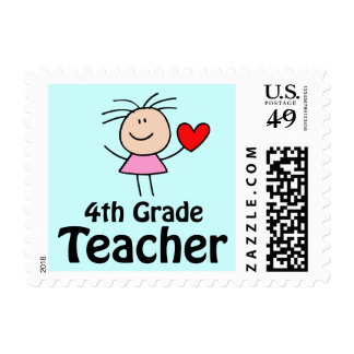 Fourth Grade Teacher Stick Figure Stamp