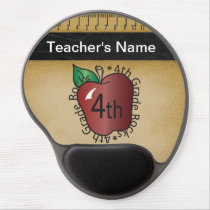 Fourth Grade Teacher's Vintage Chalkboard Style Gel Mouse Pad