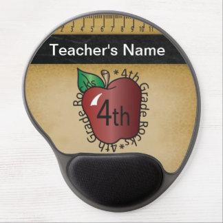 Fourth Grade Teacher's Vintage Chalkboard Style Gel Mouse Pad