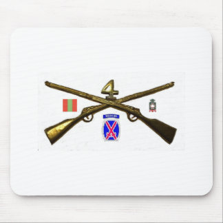 Fourth Infantry Regiment Cross Rifles Mouse Pad