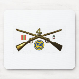 Fourth Infantry Regiment Cross Rifles Mouse Pads
