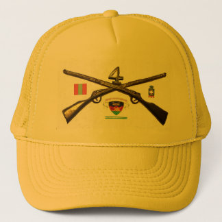 Fourth Infantry Regiment Cross Rifles Trucker Hat