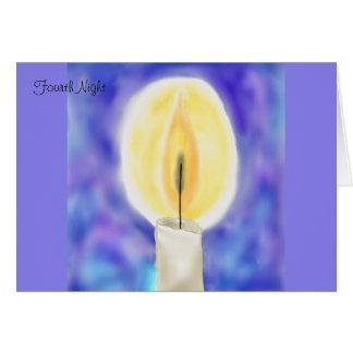 Fourth Night Hanukkah Card