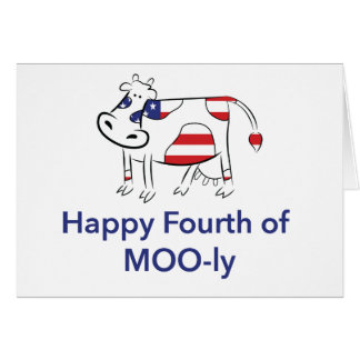 Fourth of July - American Cow Card