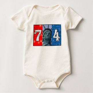 Fourth Of July Art Baby Bodysuits