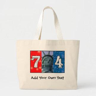 Fourth Of July Art Jumbo Tote Bag
