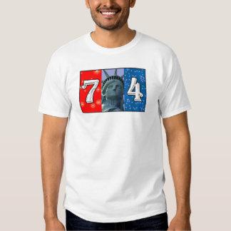 Fourth Of July Art Tshirt