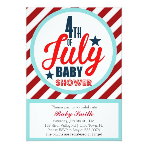 May The Fourth Be With You Baby Shower: Fourth Of July Baby Shower Card