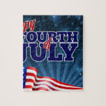 Fourth of July Background American Flag Design Jigsaw Puzzle