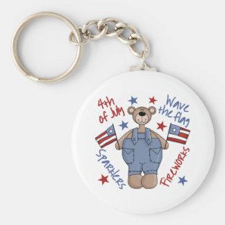 Fourth Of July Bear Keychain