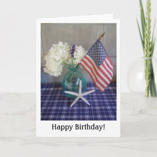 Fourth Of July Birthday Card