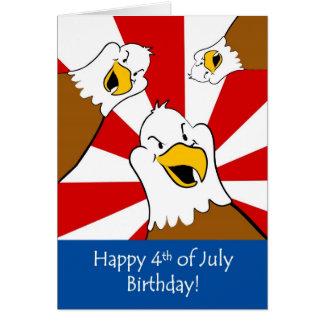 Fourth of July Birthday Celebration Greeting Card