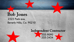 Fourth Of July Celebration Business Card
