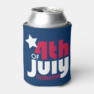Fourth of July Celebration Can Cooler
