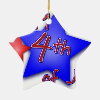 Fourth of July Celebration Ceramic Ornament