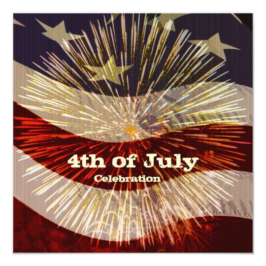 Fourth of July Celebration Invitation