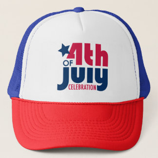 Fourth of July Celebration Trucker Hat