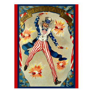 Fourth of July Celebration - Uncle Sam Postcard