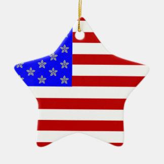 Fourth of July Ceramic Ornament