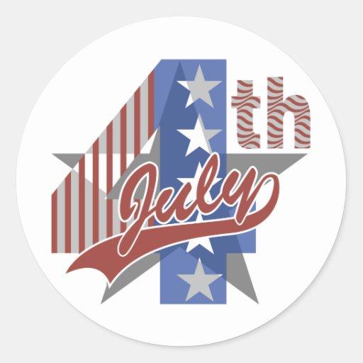 Fourth of July Classic Round Sticker