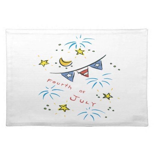 Fourth Of July Cloth Place Mat