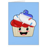 Fourth of July Cupcake Card