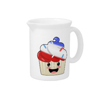 Fourth of July Cupcake Drink Pitcher