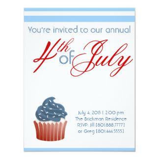 Fourth Of July Cupcake Invite
