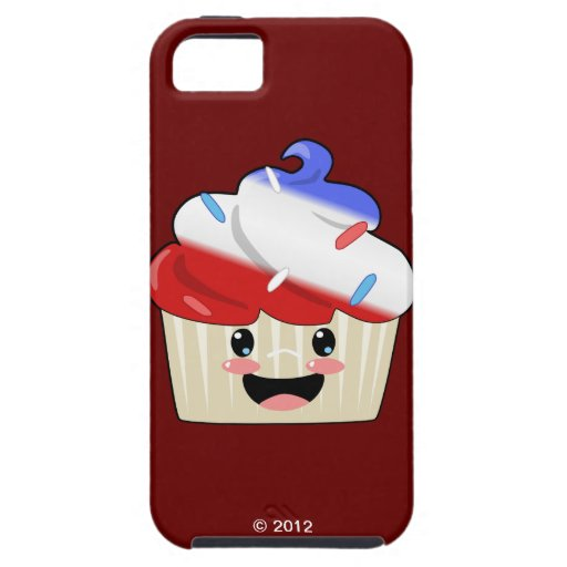 Fourth of July Cupcake iPhone SE/5/5s Case