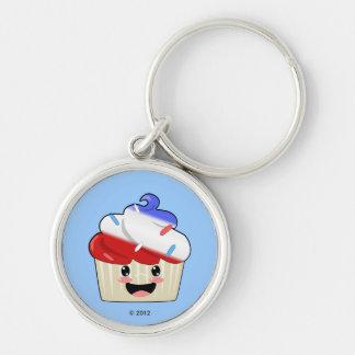 Fourth of July Cupcake Keychain
