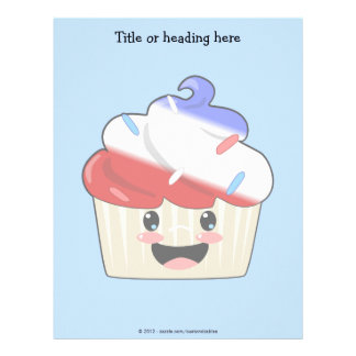 Fourth of July Cupcake Letterhead